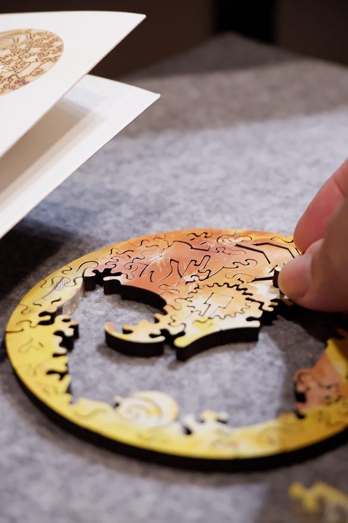 【海裡魚木質拼圖】月球 Moon 木質拼圖  讓圓形拼圖拼出內在世界與外在世界! @貝大小姐與瑞餚姐の囂脂私蜜話